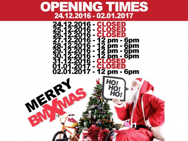 Opening Times Xmas + New Year
