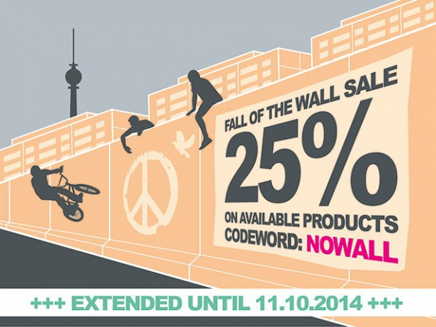 25% Fall of the wall discount!