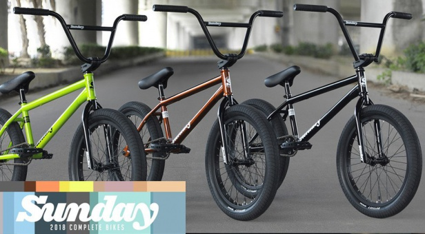 Sunday Bikes 2018 BMX Bikes - Now available