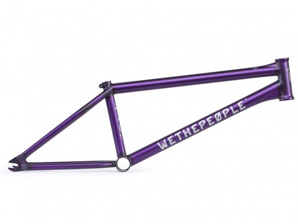 "wethepeople ""Battleship"" 2018 BMX Rahmen - Matt Trans Purple"