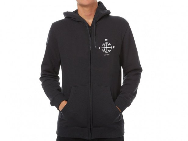 "wethepeople ""Globe"" Hooded Zipper - Black"