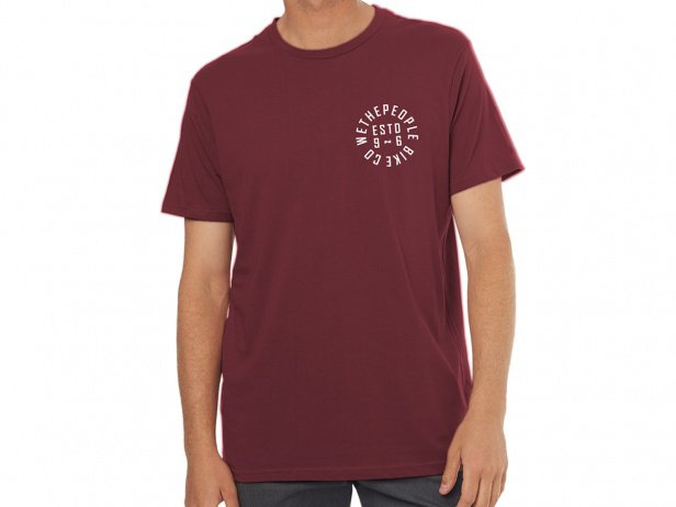 "wethepeople ""Pocket Estd 96"" T-Shirt - Maroon Red"