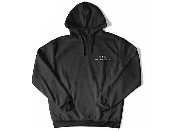 "wethepeople ""SQB"" Hooded Pullover - Dark Grey"