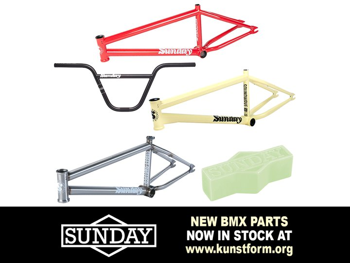 New Sunday 2019 BMX Parts - In stock!