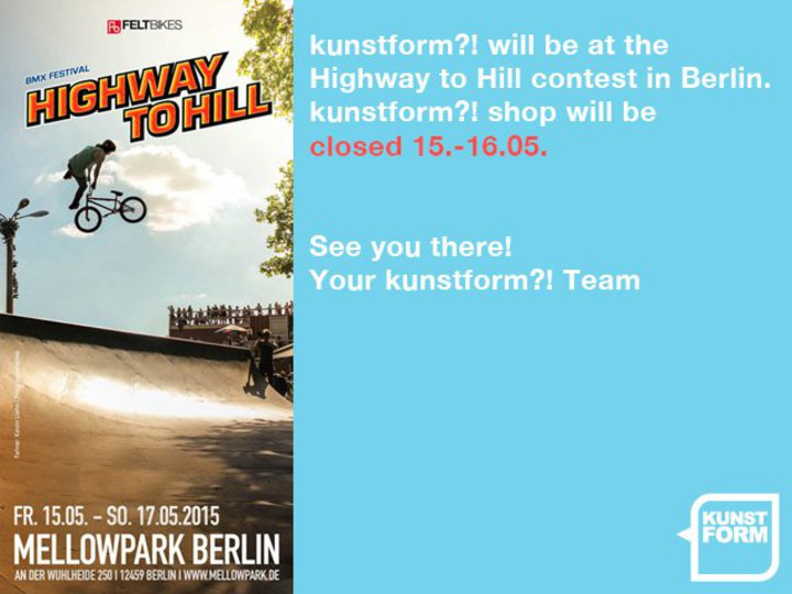 kunstform?! BMX Shop at Highway to Hill in Berlin