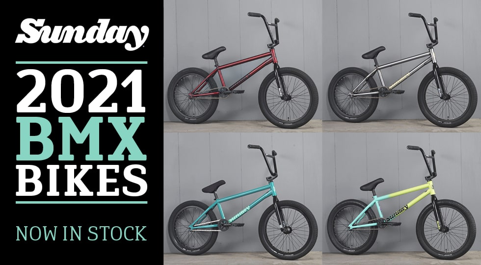 Sunday 2021 BMX bikes in stock