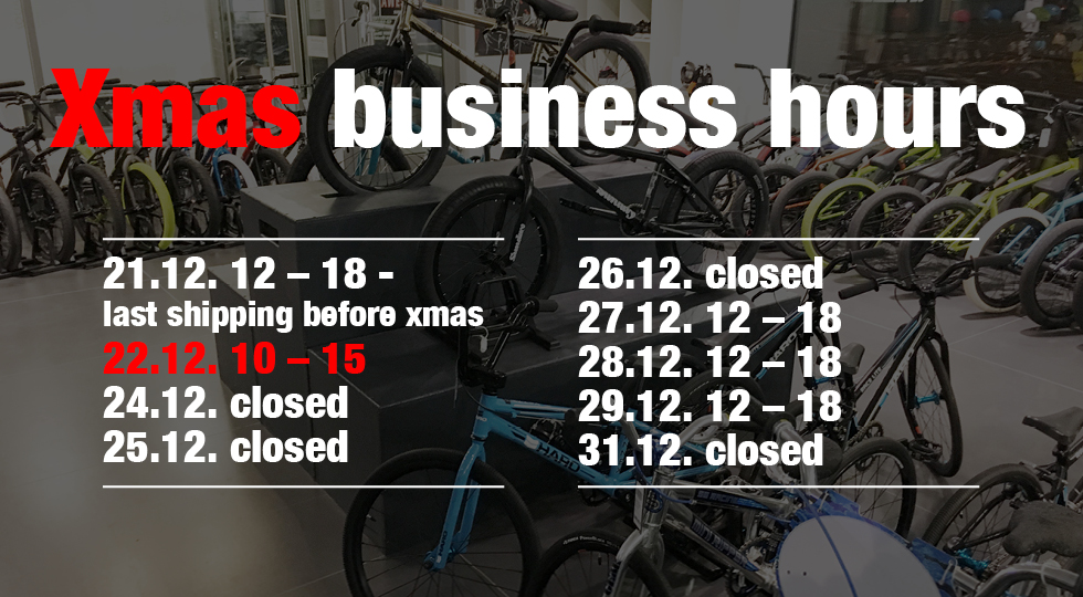 Xmas 2018 - Dates and Business Hours