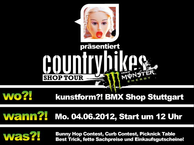 Countrybikes shops tour at kunstform?! BMX Shop