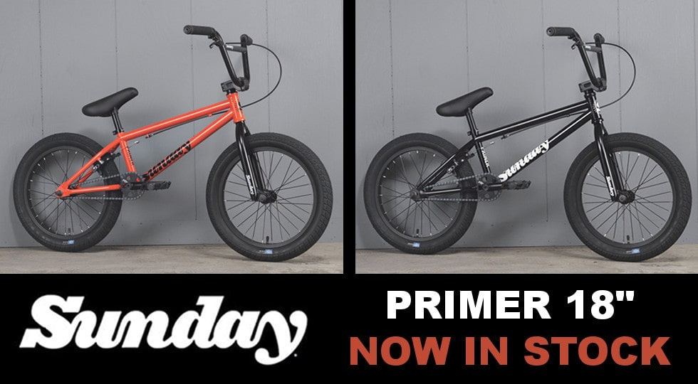 Sunday Primer 18 BMX bike - back in stock