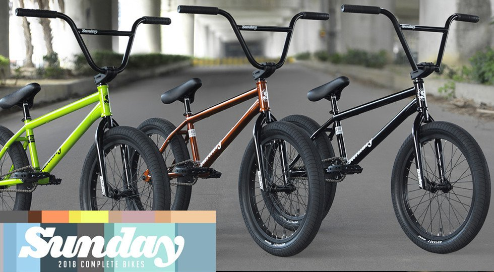 Sunday bikes 2018 bmx bikes now available kunstform for Bmx store