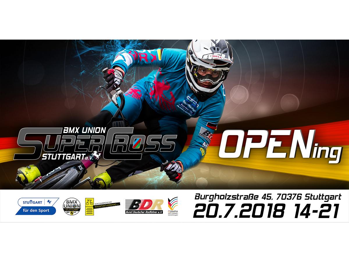 BMX Supercross Strecke Stuttgart - Eröffnung | kunstform BMX Shop ...