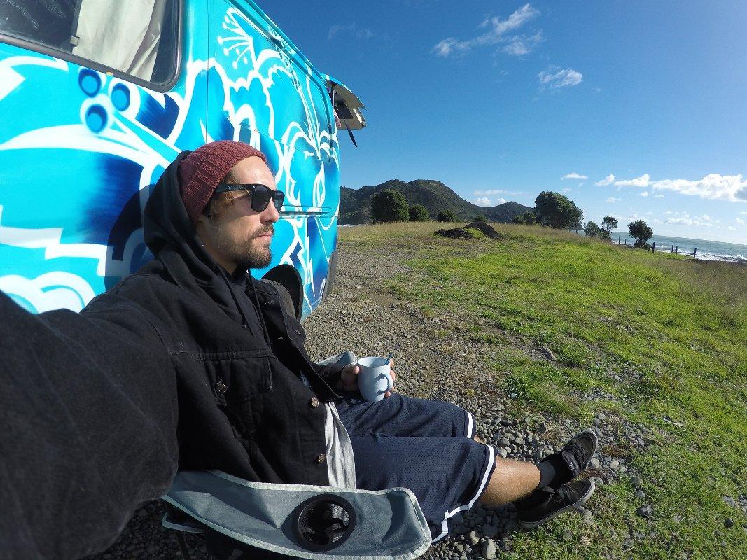 Mit den Van durch Neu Seeland