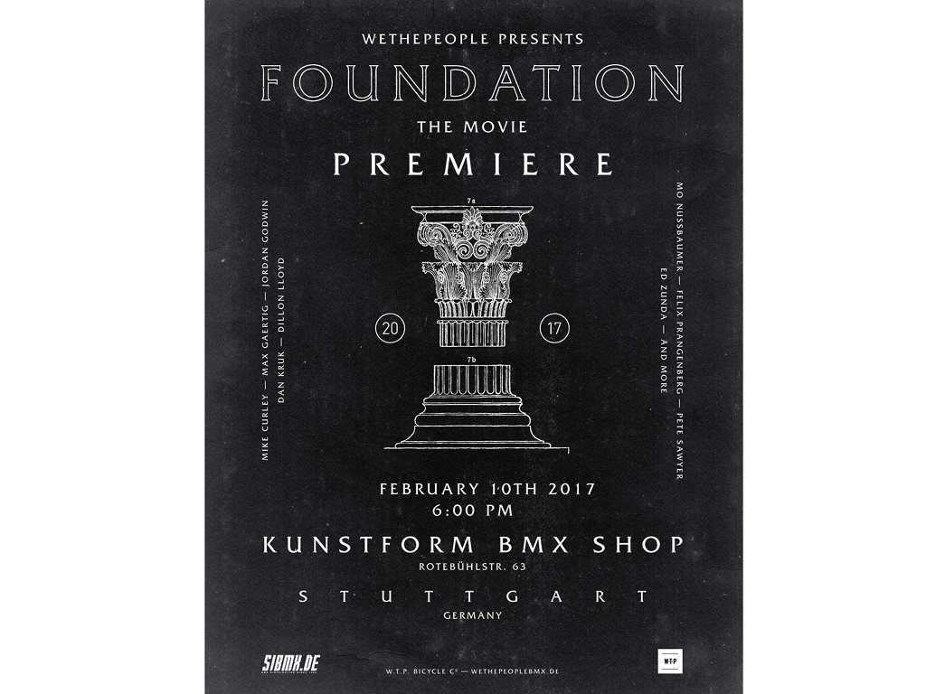 wethepeople Foundation BMX Video Premiere - Stuttgart