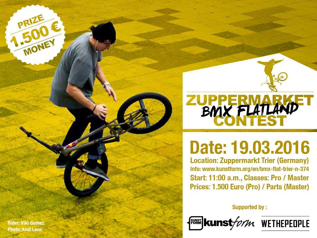 Zuppermarket BMX Flatland Contest Trier