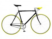 "Foffa ""Prima"" 2011 Fixed Gear Bike black/yellow"