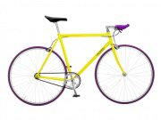 "Foffa ""Prima"" 2011 Fixed Gear Bike yellow/purple"