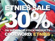 Etnies Sale- 30% on all shoes on stock!