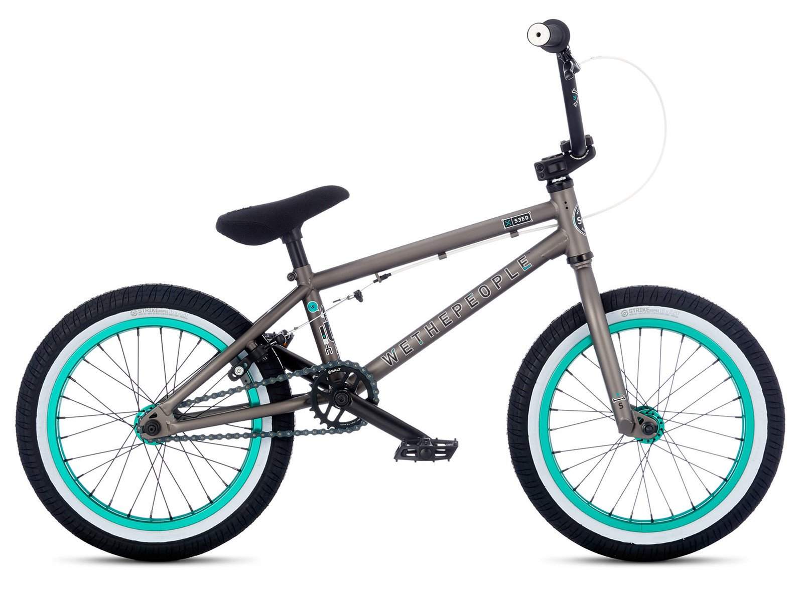 Wethepeople seed 16 2017 bmx bike 16 inch steel grey for Bmx store